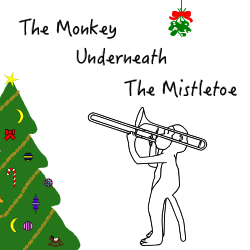 albumcover for song the monkey underneath the mistletoe by will joy